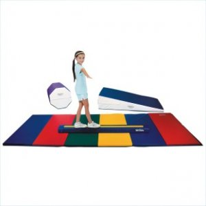 "Skillbuilder Gymnastics Pack, Includes: 36"" Incline (72""L x 36""W x 16""H), Soft Beam (72""L x 4""W x 6""H), Rainbow Mat (144""L x 48""W x 1-3/8"" thick), Octagon (30""L x 25""W x 25""H)"