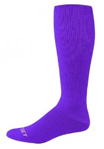 Champion Kay Softball Socks, Solid Purple - Specify size when ordering - Pair